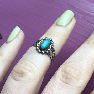 🔥BOGO🔥 Sterling Silver Turquoise Midi Pinky Ring